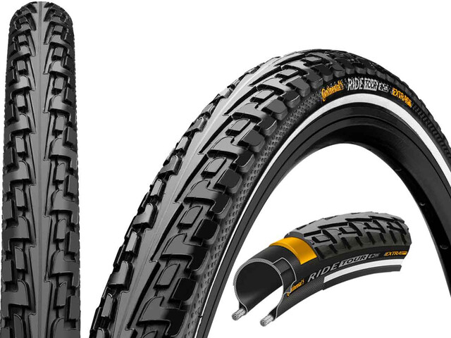 "Continental Ride Tour Tyre 28"" Draht Reflex, black"